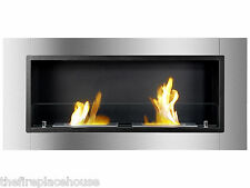 Ignis Wall Mounted Bio Ethanol Fireplace - Lata, Ventless Recessed Eco Friendly