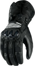 ICON Patrol Waterproof Leather/Textile Motorcycle Gloves (Black) Choose Size