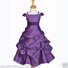 844S PLUM PURPLE PAGEANT FLOWER GIRL DRESS 2/2T 3/3T 4/4T 5T 6 7 8 9 10 11 12 14