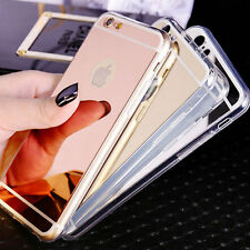 Mirror Electroplating Soft TPU Cover Case Protector For iPhone 6 iPhone 6S