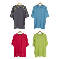 REEBOK Men Sport Performance Tee Short Sleeve Playdry Workout Fitness T-Shirt