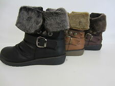 Spot On F5845 Ladies Ankle Boots Brown, Camel or Black Sizes UK3-8 (R11B)