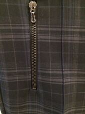 Zara Plaid Pants Blue Gray M NWT