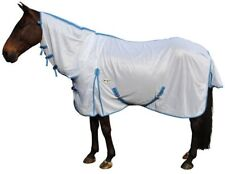 CARIBU Euro-Mesh 270gsm Fly Air Mesh Neck Combo Horse Rug, Cool & Durable. White