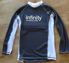 New Infinity Rash Vest LADIES LONG SLEEVE Grey/White