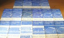 Cardiff City Home Match Programmes, 1959-64.