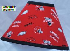 UNIVERSITY of ARKANSAS LAMP SHADE (Made by LBC) SHIPS WITHIN 24 TO 48 HOURS!