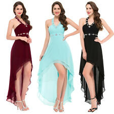 2017 Short Long Chiffon Formal Evening Party Cocktail Dress Bridesmaid Prom Gown