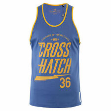 Mens Crosshatch Vest Top / Tank Top / Muscle Vest - Monray Blue