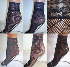 2 X PAIRS LADIES WOMEN GIRL SEXY FLORAL LACE EDGE SHORT ANKLE SOCKS ONE SIZE NEW