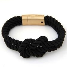 Magnet Bracelet Braided Wristband Jewelry Accessories Woven Leather Rope