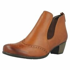 Ladies Remonte Leather Ankle Boots '187'