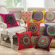MANDALA CLASSIC VINTAGE MEDITERRANEAN CUSHION COVER PILLOW CASE COTTON LINEN
