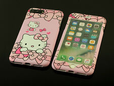 Cute Pink Hello kitty Front + Back case cover Defender for Apple iPhone 7 / Plus
