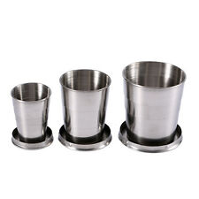 Stainless Steel Portable Outdoor Camping Travel Folding Collapsible Cup S/M/L gw