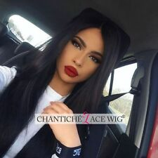 Indian Remy Human Hair Silky Straight Lace Front/Full Lace Wigs For Black Women