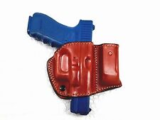 Belt Holster with Mag Pouch Leather Holster for Glock 17/22/31, MyHolster