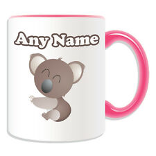 Personalised Gift Smiley Koala Mug Money Box Cup Animal Insect Design Theme Cute