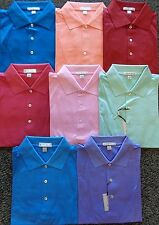 NEW MEN'S PETER MILLAR S/S SOLID COTTON LISLE POLO GOLF SHIRT, LARGE, PICK COLOR