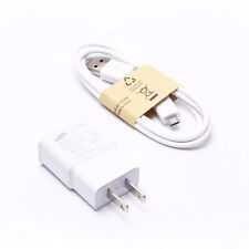 Travel Plug AC DC +Micro USB Cable Adapter Wall Charger Cable For Samsung
