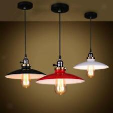 Vintage Retro Metal Ceiling Pendant Light Lampshade Light Fixture-RED/BLK/WHT
