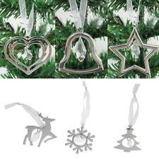 Christmas Silver Alloy Tree Hanging Décor - Bell/Tree/Elk/Snowflake/Star/Heart