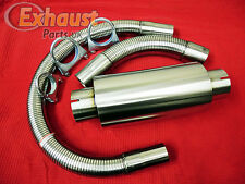 54mm T304 Stainless Generator Exhaust Kit Silencer Flexible Piping Clamps