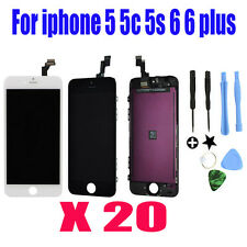 LOT 20 For iPhone 5S 6 6 PLUS LCD Lens Touch Screen Display Digitizer Assembly