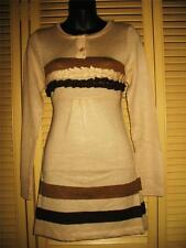 HESSI KNITTED JUNIORS TOP/DRESS BEIGE/PURPLE SIZE S-L!NWT !