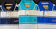 NEW MENS HOLLISTER SURFER'S FIT STRIPED S/S POLO SHIRT, PICK COLOR & SIZE, $59