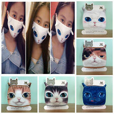 Unisex Adult Cartoon Cat Anti-Dust Keep Warm Mouth Face Cotton Mask Respirator