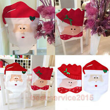 Christmas Decorations Chair Covers Dinner Chair Xmas Cap Santa Claus Mr&Mrs Sets