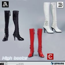 """1/6 scale female high-heel boots black for verycool phicen HT 12"""" in stock"""