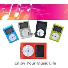 Mini Clip Metal USB MP3 Music Media Player up to 32GB With Screen FM Radio LM