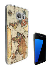 2638 Vintage World Map Case Cover For Samsung Galaxy J3 J5 A3 A5 S6 S7 Edge