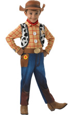 Child Toy Story Deluxe Woody Cowboy Kids Boys Movie Fancy Dress Costume