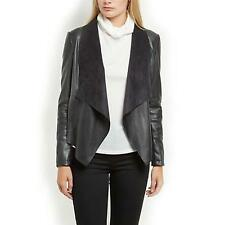 NEW Women's leather jacket Sexy PU locomotive Jacket Large collar coat Slim Tops