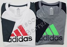 NEW Adidas Boys Climacool Short Sleeve Logo Tee Shirt Variety S L XL