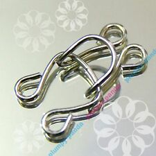 Hooks And Eyes Silver Color Tone SEW ON Brassiere Hidden Steel Metal Notions Lot
