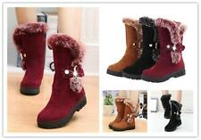 Women's Casual Fashion Winter Warm Snow Boots Thicken Fur Scrub Suede Shoes