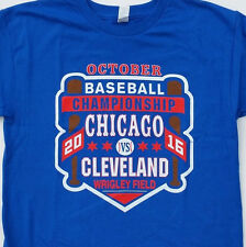 Chicago Cubs 2016 World Series commemorative Wrigley T Shirt Chi VS Cleveland