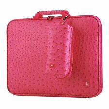 Women's Laptop bag pouch ostrich Artificial leather Anti-shock memory foam New