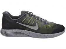NEW MENS NIKE LUNARGLIDE 8 SHIELD RUNNING SHOES TRAINERS DARK GREY / METALLIC SI