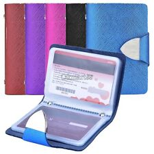 Synthetic Leather Business Case Wallet ID Credit Card Holder Purse 26 Card OK