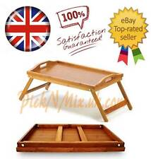 LARGE LUXURIOUS FOLDING LAP TRAY BAMBOO SERVING BREAKFAST BED SERVING TRAY