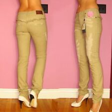 $554 Alexander McQueen Italy Beige Sand Distressed Skinny Mid-Rise Jeans 26 US 4