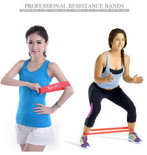 Unisex Sports Resistance Band Tension Exercise Loop Strength Weight Cross Train