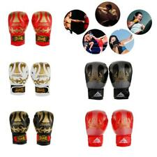 Leather Boxing Gloves Sparring Punching Bag Muay Thai Kickboxing Training Mitts