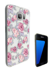 C1449 Shabby Chic Pink Red Case Cover For Samsung Galaxy J3 J5 A3 A5 S6 S7 Edge