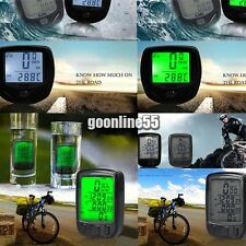 New LCD Back Light Cycle Bicycle Bike Computer Speedometer Odometer Waterproof